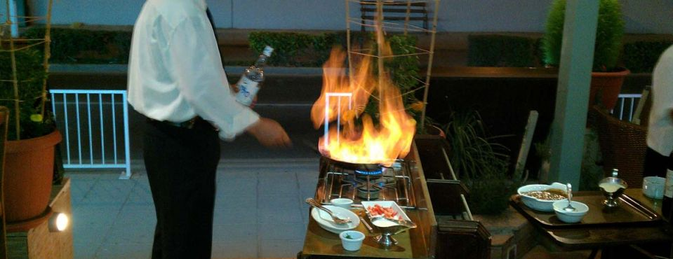 Flambe By our Top Waiter